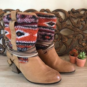 Steve Madden Tolteca Sweater Western Boots